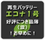 再生バッテリー エコナ1号